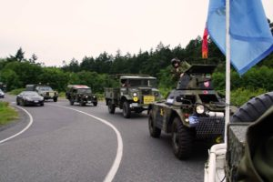 Museum convoy heading to/from parade