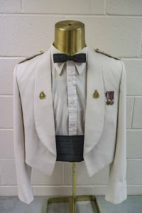 Post WW II Summer White with Royal Canadian Ordnance Corps collar and Captain rank insignia