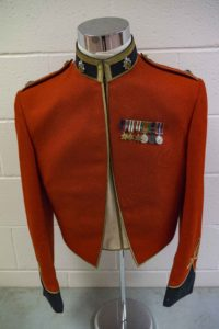 Post War Senior Officer's cavalry style with Royal Canadian Army Service Corps collar and Major rank insignia.